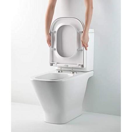 Tapa y asiento de inodoro con caída amortiguada - Compatible con Roca The Gap