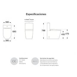 Especificaciones Técnicas Inodoro Roca in-wash