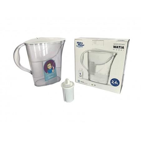 Hidro Water Jarra de Agua con Filtro (1 Filtro Incluido) 2,4L WATIA