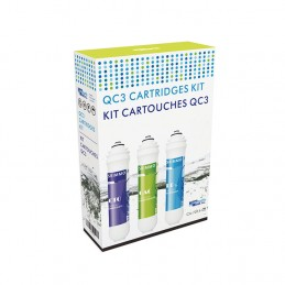 Recambio cartuchos ultrafiltración NELVA - Kit Carbon QC3